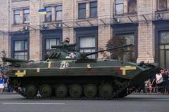 KYIV, UKRAINE - 24 AOÛT 2016 : Défilé militaire dans Kyiv, consacré au Jour de la Déclaration d'Indépendance de l'Ukraine L'Ukrai Images libres de droits