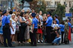 KYIV, UKRAINE - 24 AOÛT 2016 : Défilé militaire dans Kyiv, consacré au Jour de la Déclaration d'Indépendance de l'Ukraine L'Ukrai Image libre de droits