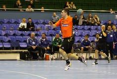 Handballspiel Ukraine gegen die Niederlande Lizenzfreies Stockbild
