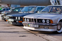 Kyiv, Ukraine - 23 APRIL, 2016: BMW M3, M5, M6 on exhibition of old cars - OldCarLand 2016 Stock Photos