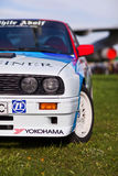 KYIV, UKRAINE - April 22, 2016: Car BMW e30 M3 at festival of vintage cars OldCarLand-2016 in Kiev. Side view, in front Royalty Free Stock Photo