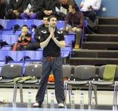 Cheftrainer niederländischen Handballteam Kennzeichens Schmetz Stockfotografie