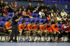 Cheftrainer niederländischen Handballteam Kennzeichens Schmetz Lizenzfreie Stockfotos