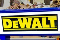 Kyiv, Ukraine - April 9, 2018: DeWALT signboard royalty free stock photography