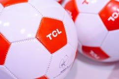 Kyiv, Ukraine - April 12, 2019: TCL logo on ball royalty free stock photography