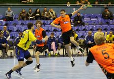 Handball game Ukraine vs Netherlands Royalty Free Stock Photography