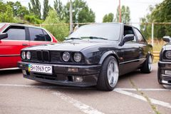 KYIV, UKRAINE - August 7, 2017: BMW e30 at the exhibition.  Stock Photography