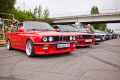 KYIV, UKRAINE - August 7, 2017: BMW e30 at the exhibition.  Royalty Free Stock Image