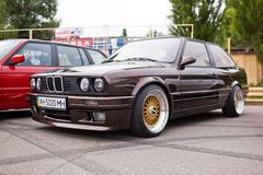 KYIV, UKRAINE - August 7, 2017: BMW e30 at the exhibition.  Stock Images