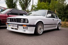 KYIV, UKRAINE - August 7, 2017: BMW e30 at the exhibition.  Royalty Free Stock Photos
