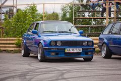 KYIV, UKRAINE - August 7, 2017: BMW e30 at the exhibition.  Royalty Free Stock Photo