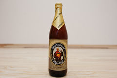 Kyiv, Ukraine -29 August 2016: Franziskaner weissbier Royalty Free Stock Photography