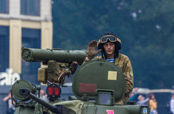 KYIV, UKRAINE - AUGUST 24, 2016: Military parade in , dedicated to the Independence Day of . KYIV, UKRAINE - AUGUST 24, 2016: Military parade in Kyiv, dedicated Stock Images