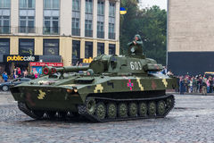 KYIV, UKRAINE - AUGUST 24, 2016: Military parade in , dedicated to the Independence Day of . KYIV, UKRAINE - AUGUST 24, 2016: Military parade in Kyiv, dedicated stock photo