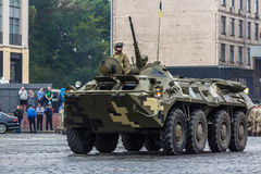 KYIV, UKRAINE - AUGUST 24, 2016: Military parade in , dedicated to the Independence Day of . KYIV, UKRAINE - AUGUST 24, 2016: Military parade in Kyiv, dedicated Royalty Free Stock Images