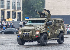 KYIV, UKRAINE - AUGUST 24, 2016: Military parade in , dedicated to the Independence Day of . KYIV, UKRAINE - AUGUST 24, 2016: Military parade in Kyiv, dedicated Stock Image