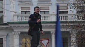 Kyiv, Ukraine 9 avril 2019 Activistes et défenseurs du parti politique national de corps assister à un rassemblement pour exiger  clips vidéos