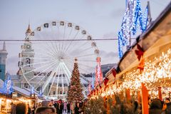 Holiday season in Kyiv royalty free stock image