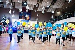KYIV, UKRAINE- DECEMBER 27: Euro dance children party Stock Photography