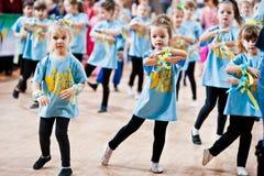 KYIV, UKRAINE- DECEMBER 27: Euro dance children party Royalty Free Stock Images