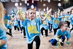 KYIV, UKRAINE- DECEMBER 27: Euro dance children party Stock Images