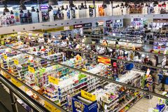 Kyiv, Ukraine - December 8, 2018: View from above at supermarket Varus at Ukraine. royalty free stock images