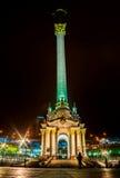KYIV, UKRAINE - 18. DEZEMBER 2015: Unabhängigkeits-Quadrat - der zentrale Platz von Kyiv Im Jahre 2013 fanden die Hauptereignisse Lizenzfreie Stockfotografie