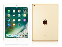 Apple iPad Pro Gold. Kyiv, Ukraine - Fabruary 6, 2018: Brand new white Apple iPad Pro Gold isolated on white with clipping path, 7th generation of the iPad Royalty Free Stock Photo