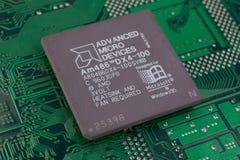 KYIV, UKRAINE - Feb 17, 2018 Prozessor AMDs 486DX4-100 lizenzfreies stockfoto