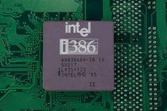 KYIV, UKRAINE - Feb 17, 2018 Prozessor Intels 386 lizenzfreie stockfotos