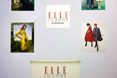 Kyiv, Ukraine - 7. Februar 2017: Elle-Aufenthaltsraum-Anzeige als Teil lizenzfreie stockfotos