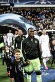 KYIV, UKRAINE - 24. FEBRUAR 2016: Punktspiel UEFA Championes mit Dynamo Kyiv und Manchester City FC Lizenzfreie Stockbilder