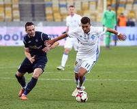 Ukrainian Premier League: Dynamo Kyiv v Olimpik in Kyiv Stock Image