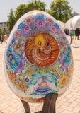 KYIV, UKRAINE : Festival ukrainien des oeufs de pâques (Pysanka) sur le Th Images stock