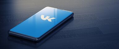 KYIV, UKRAINE-JANUARY, 2021: Vkontakte on Smart Phone Screen.