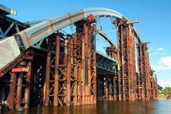 Free Kyiv, Ukraine - July 16, 2017: Podilsko-Voskresensky Bridge, A Combined Road-rail Bridge Over The Dnieper River Under Construction Stock Photos - 214005563