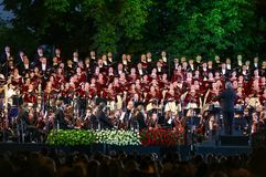 The Roads of Friendship. Ravenna–Kyiv. Concert at Sofiyivska Square in Kyiv royalty free stock image