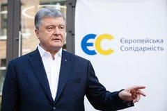 Chairman of the European Solidarity Party Petro Poroshenko. KYIV, UKRAINE - Jun 06, 2019: Ex-President of Ukraine, Chairman of the European Solidarity Party royalty free stock photo