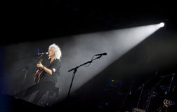 Queen perform onstage during charity concert in Kyiv Stock Photography