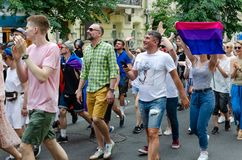 Kyiv, Ukraine - June 23, 2019. March of equality. LGBT march KyivPride. Gay parade royalty free stock photo