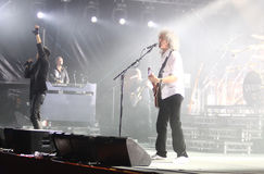 Queen perform onstage during charity concert in Kyiv Royalty Free Stock Photo