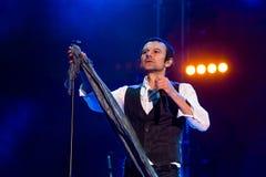 KYIV, UKRAINE - JUNE 21: Svyatoslav Vakarchuk on concert of Okea Royalty Free Stock Photography
