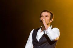 KYIV, UKRAINE - JUNE 21: Svyatoslav Vakarchuk on concert of Okea Stock Photos