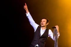 KYIV, UKRAINE - JUNE 21: Svyatoslav Vakarchuk on concert of Okea Stock Image