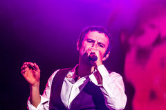 KYIV, UKRAINE - JUNE 21: Svyatoslav Vakarchuk on concert of Okea Royalty Free Stock Image