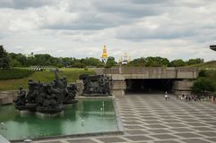 KYIV, UKRAINE - JUNE 1, 2017, WFront view of the square and monument to veterans and victims of the Second World War Kyiv, Ukraine Royalty Free Stock Photos