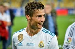 KYIV, UKRAINE - 26. MAI 2018: Cristiano Ronaldo von Real Madrid c Stockbilder