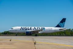 KYIV, UKRAINE - 26 MAI 2018 : Photo d'un avion Airbus A320 de ligne aérienne d'Aigle Azur, qui est ligne aérienne de charte Cet a Images stock