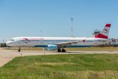 KYIV, UKRAINE - 26 MAI 2018 : Photo d'un avion d'Austrian Airlines, qui est charte et ligne aérienne régulière Est le ressortissa Photos libres de droits