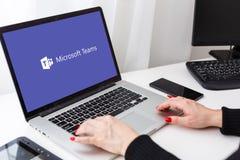 Free Kyiv, Ukraine - March 27, 2021. Laptop With Microsoft Teams Logo. Business Communication Platform. Videoconferencing Stock Photography - 216671152